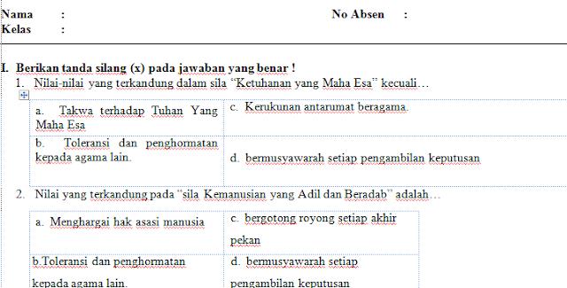 Contoh Soal UAS/PAS Kelas 6 Tema 1 K13 Revisi 2018