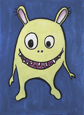 Greenish funny Monster