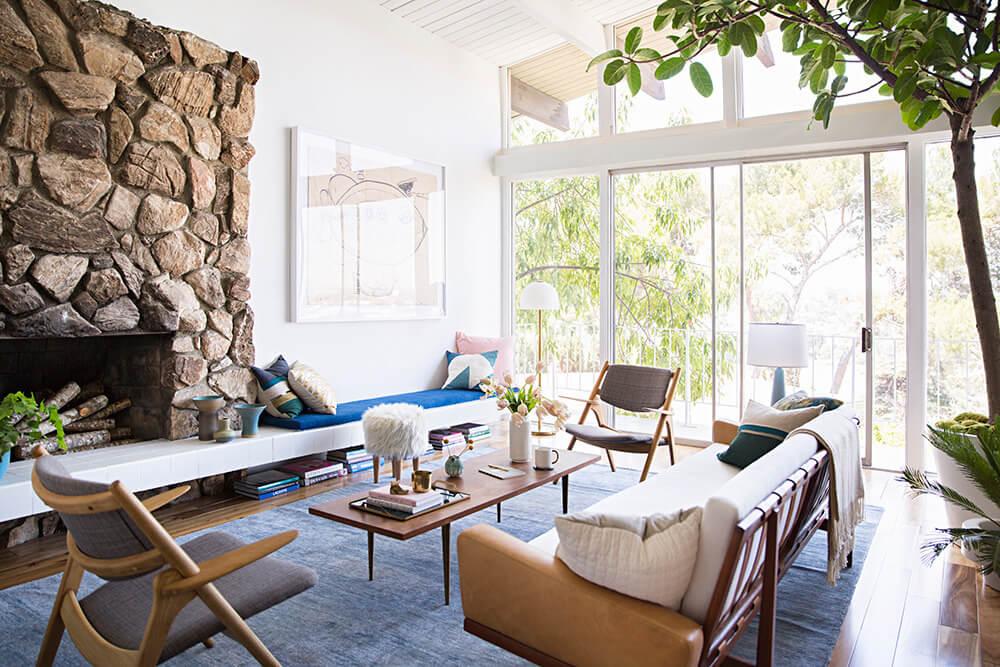 A fresh interior's Designer home in LA