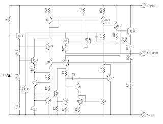 Rangkaian IC Low dropout voltage regulator