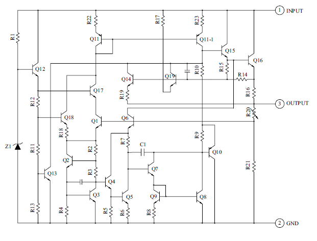 Rangkaian IC Low dropout voltage regulator