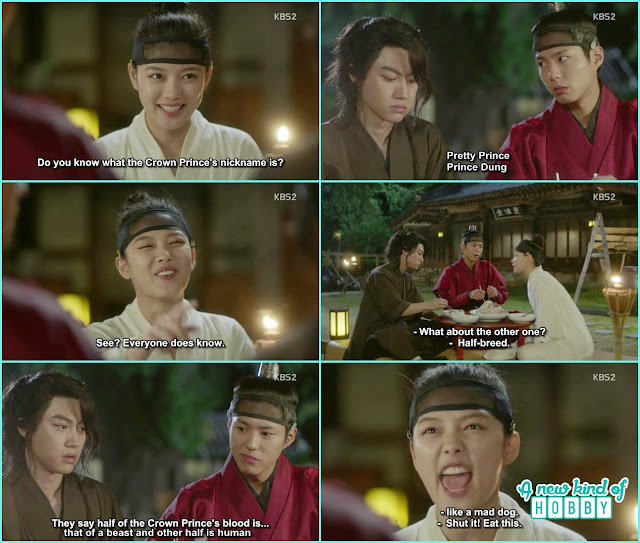 Ra On make fun of crown prince and his nick name - Love in the Moonlight - Episode 2 Review