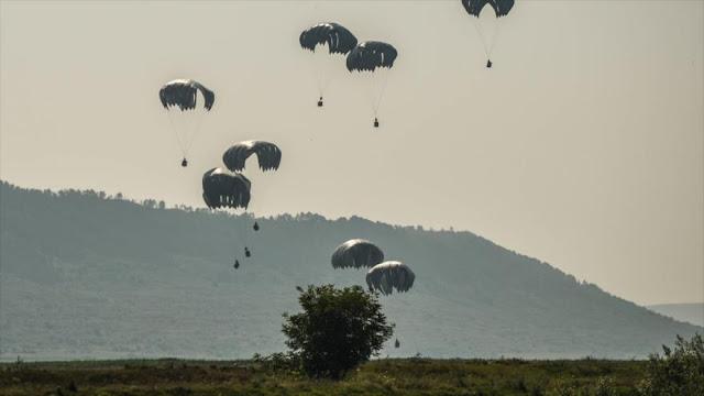 Maniobra de la OTAN manda al hospital a 12 paracaidistas de EEUU