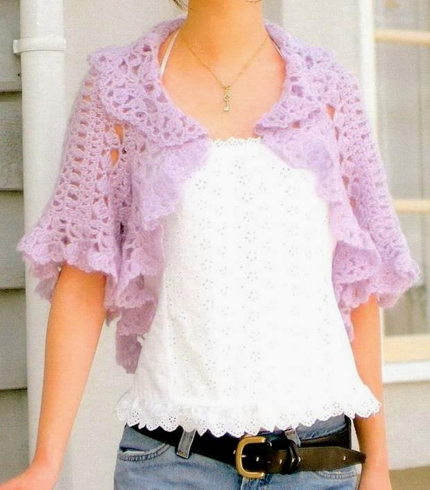 Crochet Sweaters: Crochet Shrug Pattern - Stylish Shrug