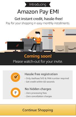 Amazon Pay EMI /अब Amazon Pay पर ATM Card से EMI पर सामान खरीदें