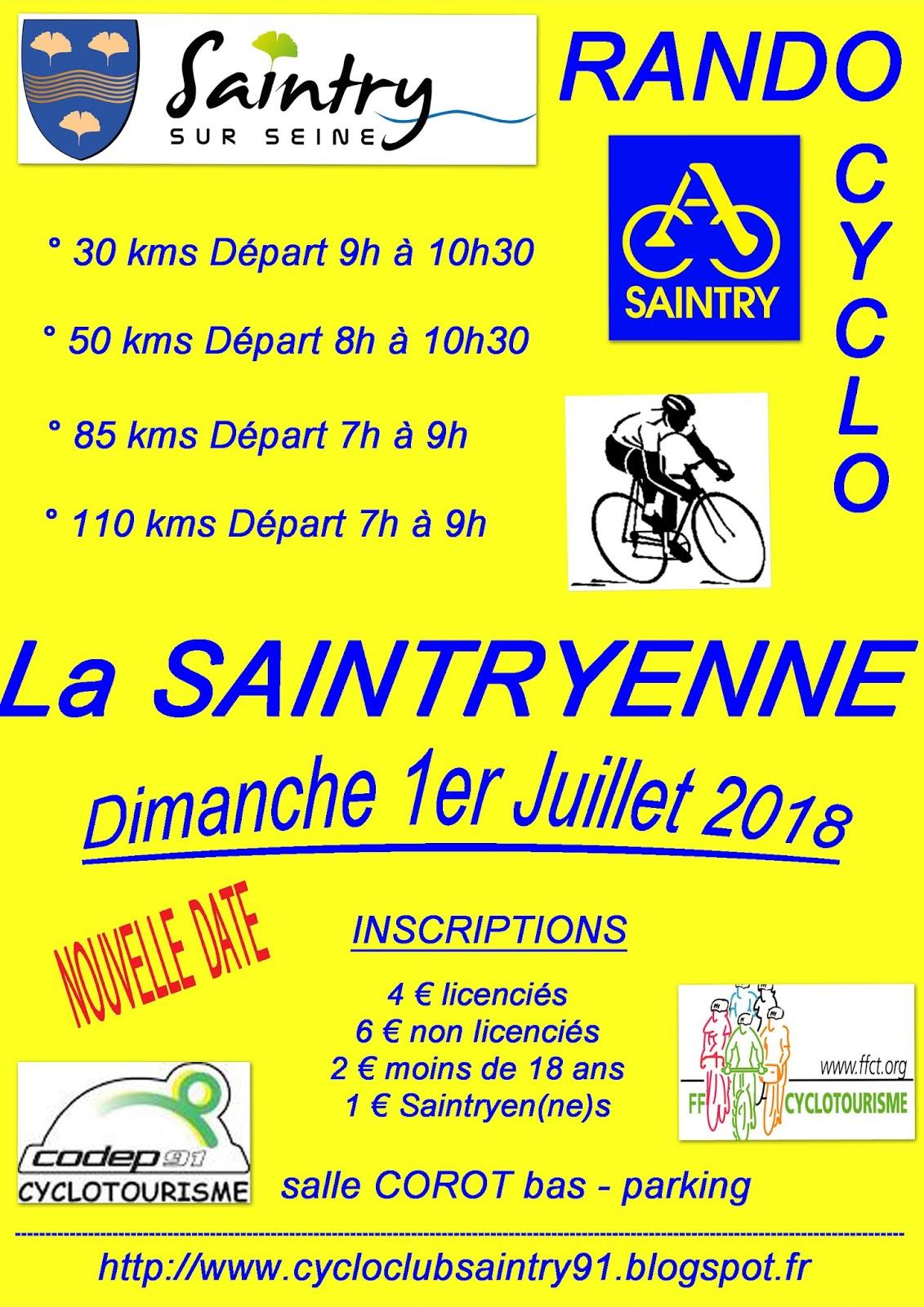 Rallye la SAINTRYENNE @ Saintry-sur-Seine | Île-de-France | France