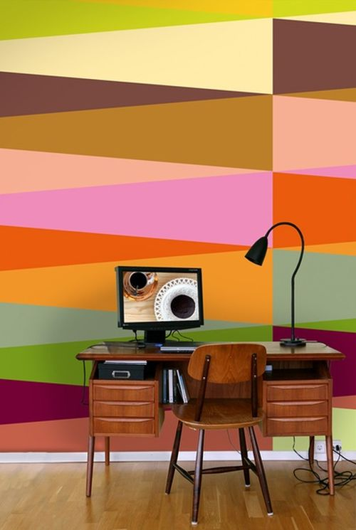 extravagant and colorful retro wallpaper