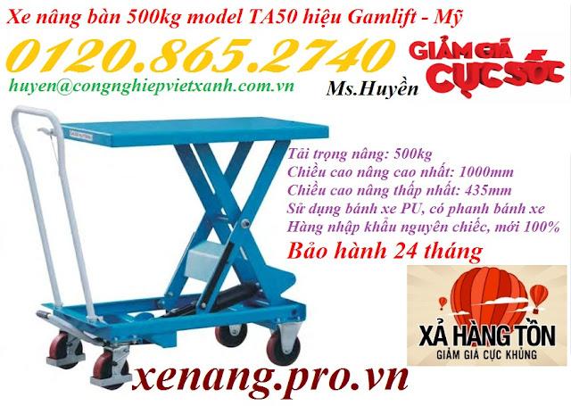 Xe nâng bàn 500kg