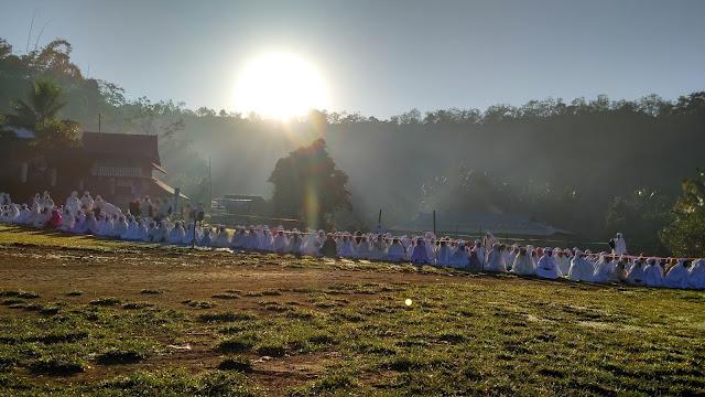 Shalat 'Ied Idul Fitri Di Lapangan Desa Baturotok