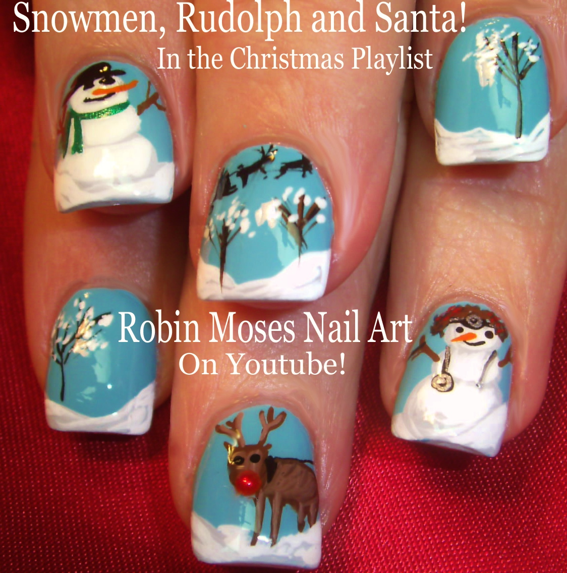 Nail Art by Robin Moses: Night Before Christmas Nails 2017 | Hand ...