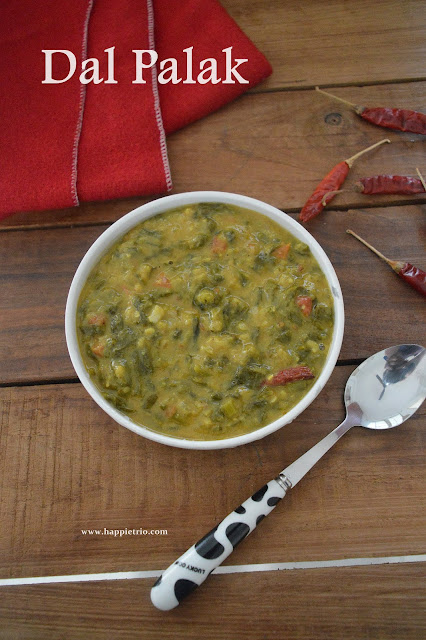 Dhaba Style Palak Dal Recipe | Dal Palak