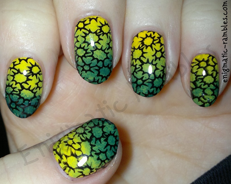 yellow-green-gradient-stamped-nails-nail-art-cheeky-stamping-plate-ch48