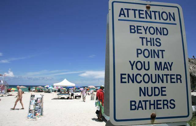 Clothing Optional Beaches Florida Map