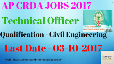 AP CRDA Recruitment 2017