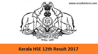 Kerala HSE 12th Result 2017