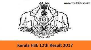 Kerala HSE 12th Result 2017