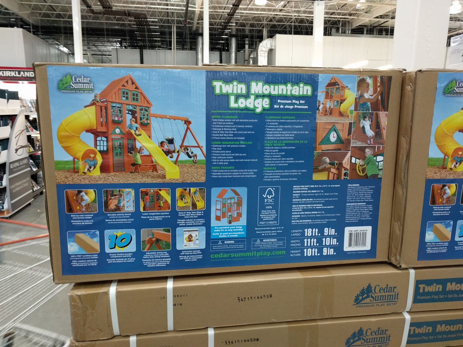 twin mountain lodge 2 slide playset from costco