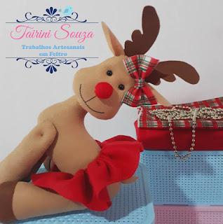 Rena de Natal em Feltro