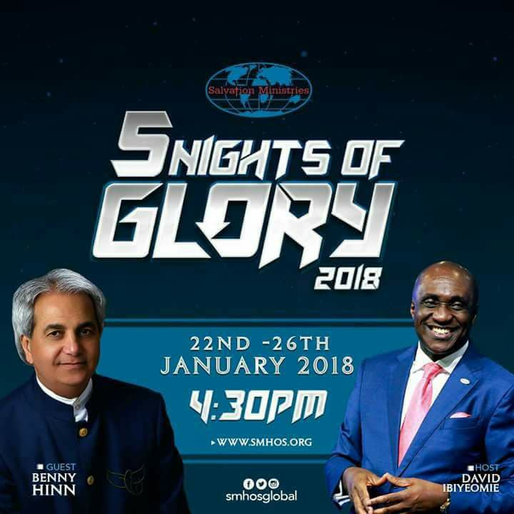 Plan To Attend 5 Nights of Glory 2018 with Pastor David