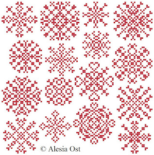 Free cross-stitch patterns, Red Snowflakes, snowflakes, winter, Christmas, cross-stitch, back stitch, cross-stitch scheme, free pattern, x-stitchmagic.blogspot.it, вышивка крестиком, бесплатная схема, punto croce, schemi punto croce gratis, DMC, blocks, symbols, patrones punto de cruz, #crossstitch_pattern, #crossstitch