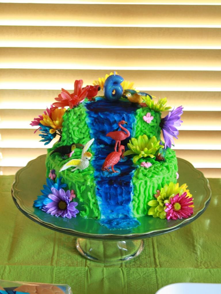 Party Cakes Tropical Bird Cake
