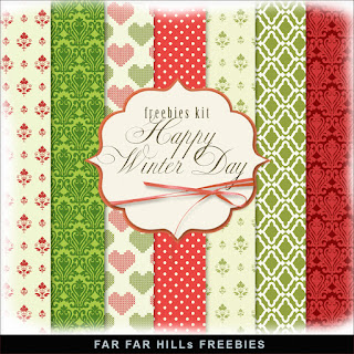 Freebies Kit of Paper - Happy Winter Day.