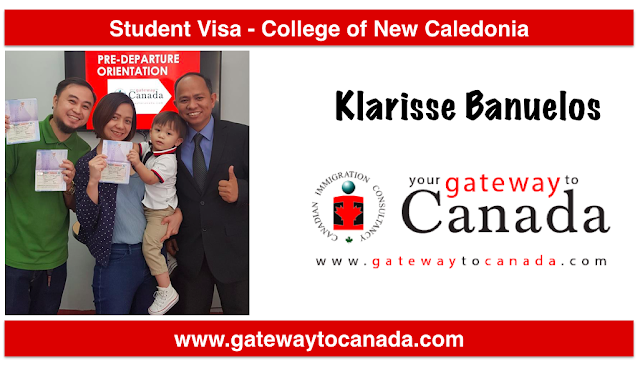 Ms. Klarisse Banuelos is going to College of New Caledonia