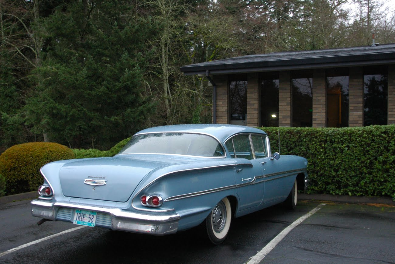 All Chevy 1960 chevrolet biscayne 2 door : OLD PARKED CARS.: 1958 Chevrolet Biscayne.