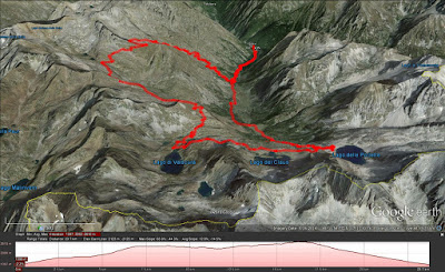 Route taken from Terme Valdieri to Rifugio Questa and back