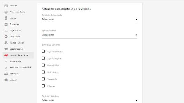 Sistema Patria Implementa nueva Opción para  actualizar datos sobre sus viviendas en la pestaña Hogares de la Patria