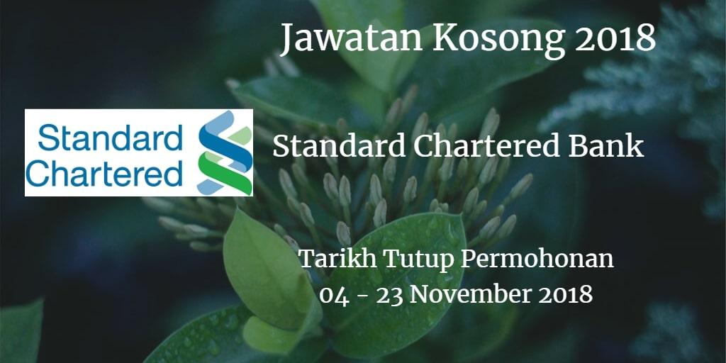 Jawatan Kosong Standard Chartered Bank 04 - 23 November 2018