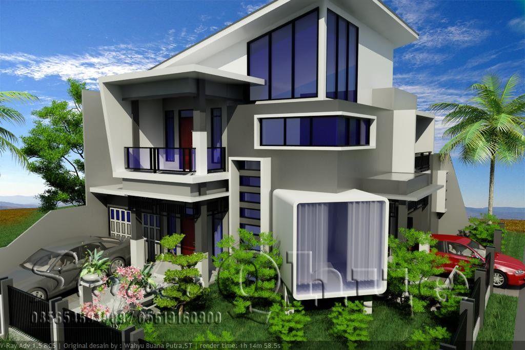Contoh Rumah Minimalis 3 Lantai Modern