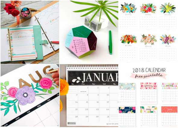 calendarios, planing, 2018, descargar, gratis, calendario 18
