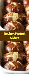 Reuben Pretzel Sliders - Cookies Cooking Corner