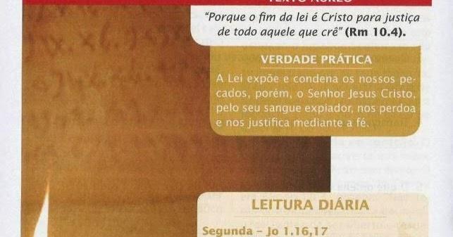 Os Mandamentos Na Vida Cristã: Educação & Vida Cristã: LIÇÃO 7