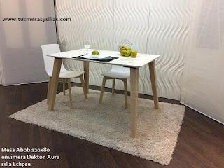 Mesa redonda extensible Mikado de estilo nordico | mesas de cocina y ...
