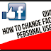 Facebook Username Change