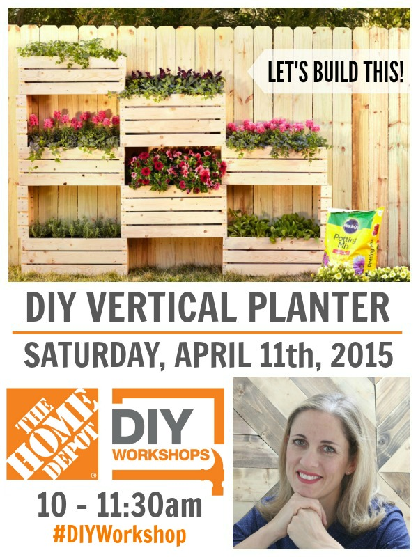 diy vertical planter workshop at The Home Depot