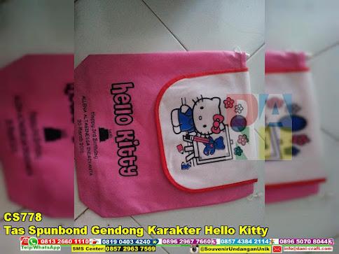 jual Tas Spunbond Gendong Karakter Hello Kitty