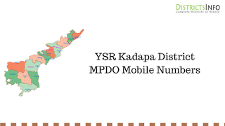 YSR Kadapa District MPDO Mobile Numbers