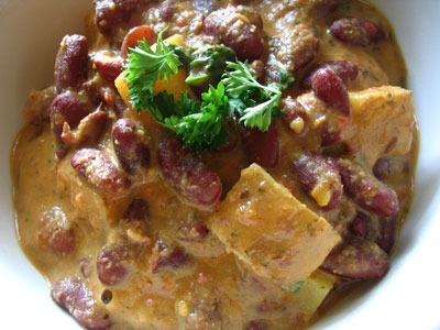 Mint and Potato Rajma