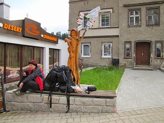 Węzeł szlaków w Szklarskiej-Porębie.