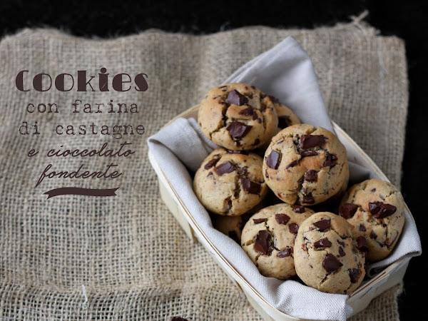 Cookies con farina di castagne e cioccolato fondente
