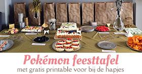 pokemon feesttafel met gratis printable voor bij de hapjes