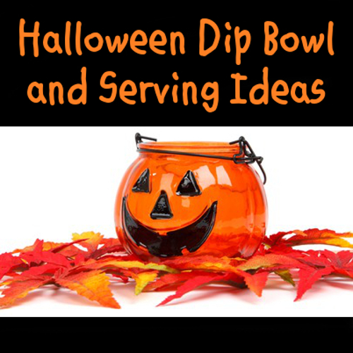 Halloween themed dip and spread bowls and containers