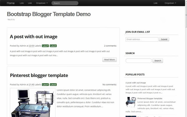 Bootstrap Blogger Template