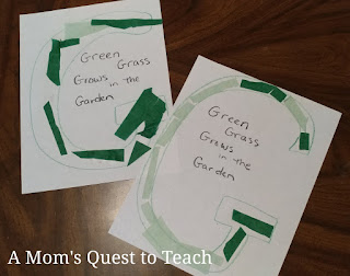 Green Grass Letter G Craft