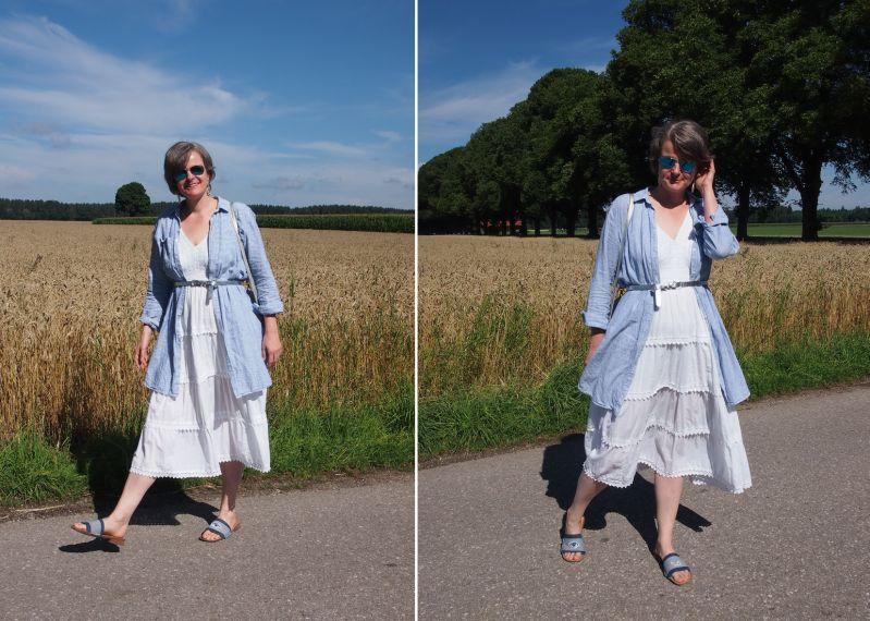 Sommerkleid mit Hemdblusenkleid kombiniert