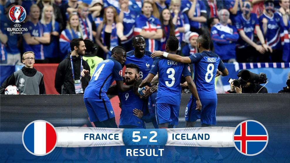 Kejutan Islandia Berhenti, Perancis ke Semifinal