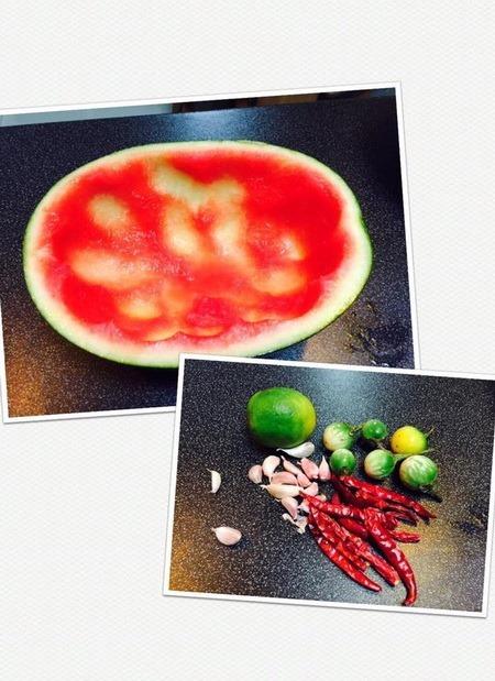 สูตรส้มตำเปลือกแตงโม วิธีทำส้มตำเปลือกแตงโม